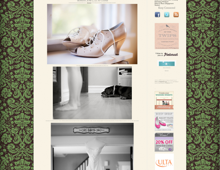 Wedding Feature on Events by Sarah Elizabeth!